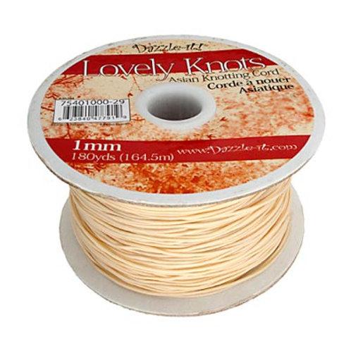 Knotting Cord 1mm 180yds Ivory