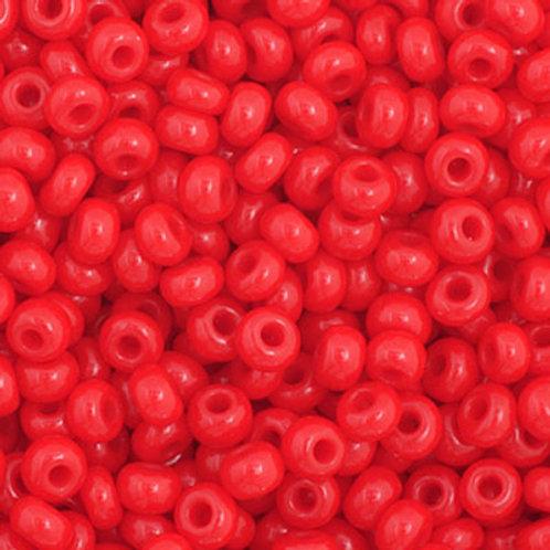 Czech Seed Beads  11/0 Medium Red OP.