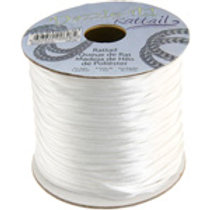 Nylon Rat-tailCord 1.5mm White 5yard