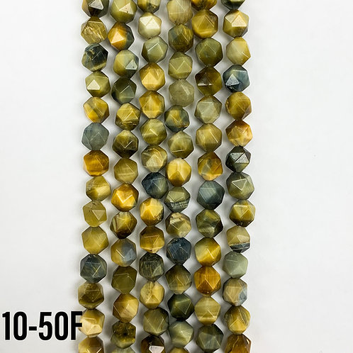 Natural Blue-Yellow Tigers Eye8mm GeoCut