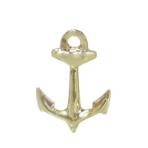 14KGF Anchor Charm With 1.5mm Hole