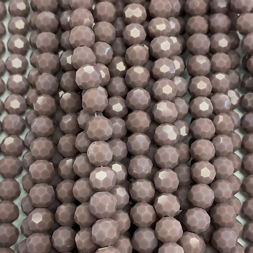 Mauve Large Facetted Round Glass Beads 8mm