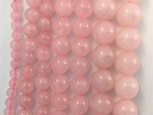 Natural Rose Quartz Beads 8mm