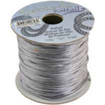 Nylon Rat-tail Cord 1.5mm Silver 5yard