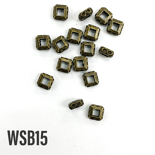 5mm L x 5mm T x 2mm W Antique Brass Square Spacer