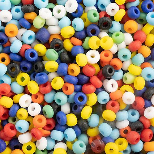 Czech Seed Beads 10/0 OP. MATT MULTI