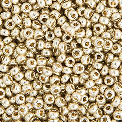 Miyuki Seed Beads 6/0 Duracoat GLVZD Silver