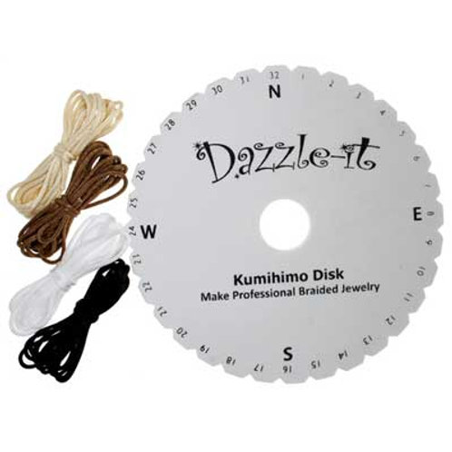 Kumihimo Disk Round Braid 15cm 5.7in w/Instruct.8yd Rattail