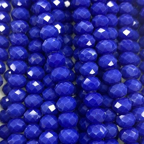 Dark Blue Facetted RondellGlass Beads 6mm