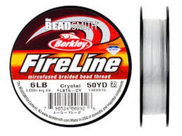 6lb Fireline Beading string 50yd Crystal