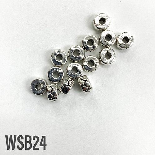 5mm T x 3mm W Rhodium Heishi Disc Spacer