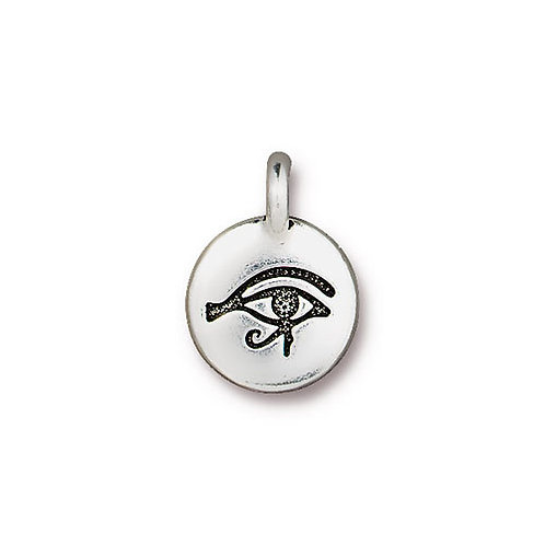 T.C. CHARMS Eye Of Horus Silver 10pcs