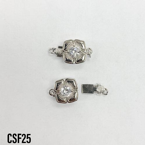 925 Fancy Flower Clasp