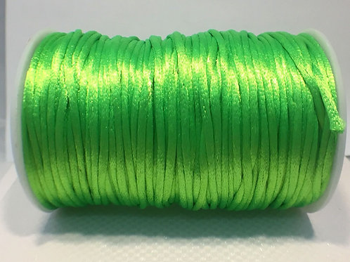 2mm Rat Tail Lime Green 100yd