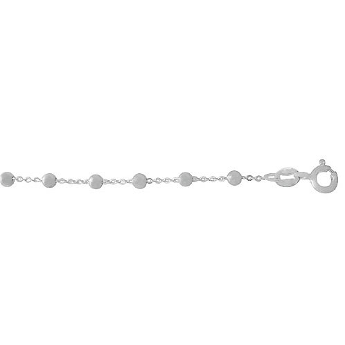 """Sterling Silver Ball-Cable Link 18"""""""