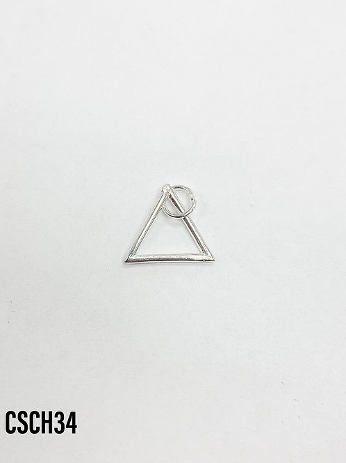 925 Triangle Charm With 5mm Loop