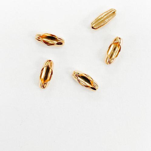 Light Gold Ball Chain Connector 8mm
