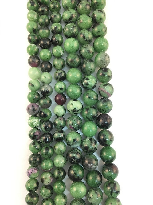 Natural Rubyzoisite Beads 8mm
