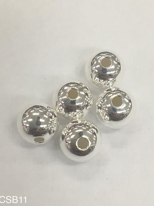 925 Shiny Bead 6mm