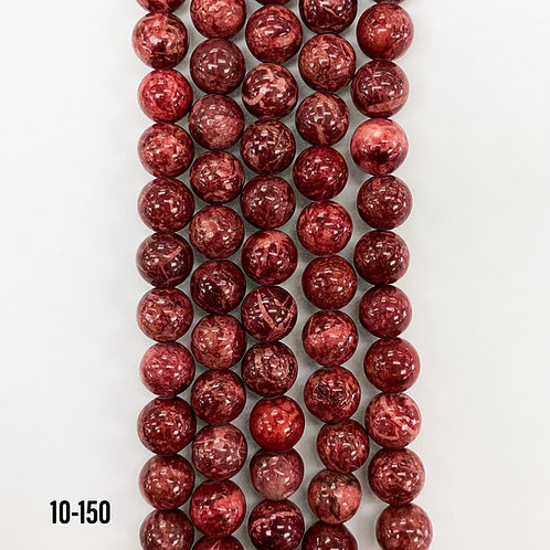 Natural Howlite Dyed Red 8mm