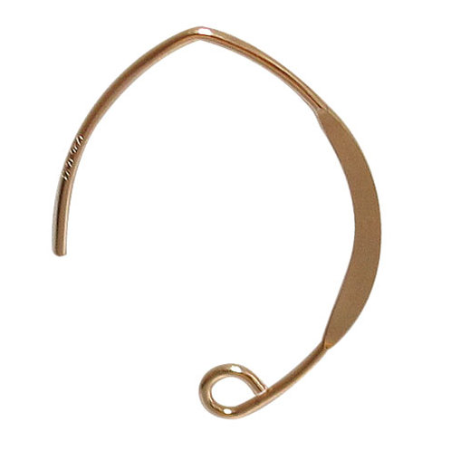 14KGF V Shaped Flattened Earring Wire Sold In Pairs