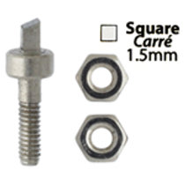 Metal Complex Replacement Pins 2 Sets Square 1.5mm