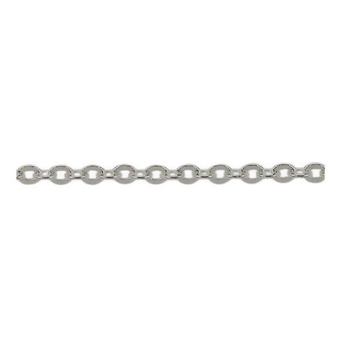 Flat, Oval Link Unfinished Chain Sold By The Foot.