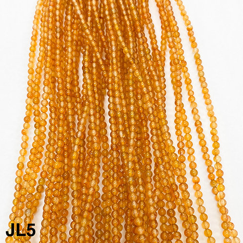 Dyed Jade Clear Gold Yellow Colour 3mm