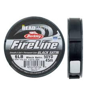 6lb Fireline Beading string 50yd Black Satin