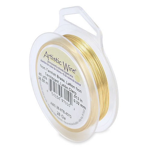 Non-Tar Brass Wire 28g 40yds