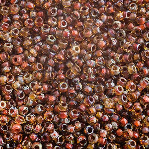 Miyuki Seed Beads  11/0 Tr. LT. Topaz Picasso