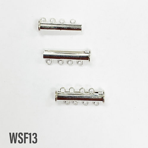 25mm Bright Silver Magnetic Tube Clasp