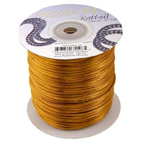 RATTAIL CORD 2mm Gold Bronze 100y