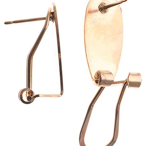 Fingernail Earring 25pr Gold