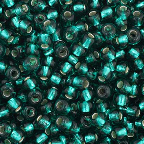 Czech Seed Beads  11/0 LT. Green S/L