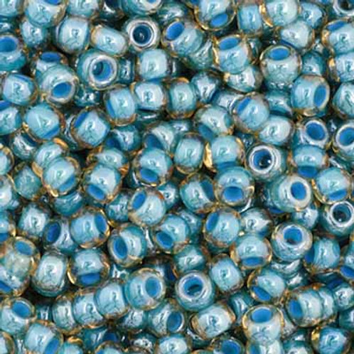 Czech Seed Beads  11/0 LT. Blue Colorlined