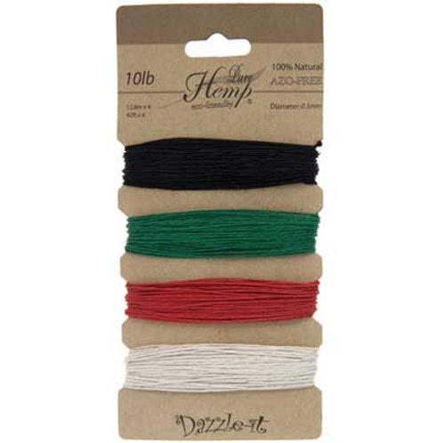 Hemp 100% 0.5mm 10lb Basic Colours