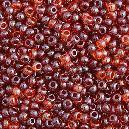 Czech Seed Beads  10/0 MIX RED LusED