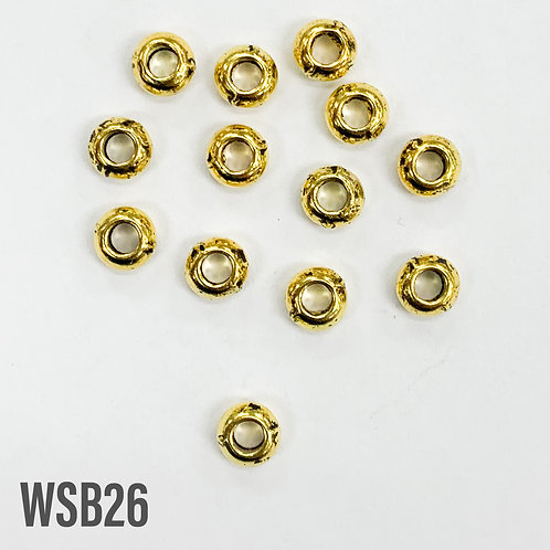 6mm T x 3mm W Gold Donut Spacer