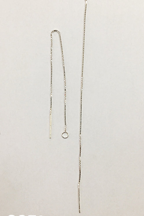 925 Ear Pin With 78mm Box Chain Sold In Pairs