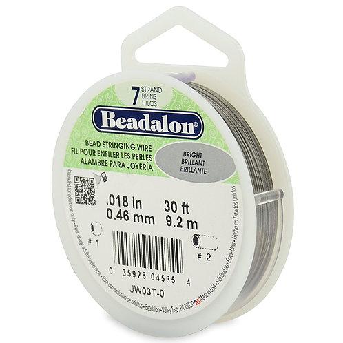 Beadalon 7 strand Bright 0.018in