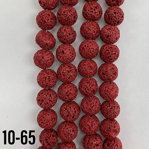 Dyed Lava Stone Red Beads 8mm