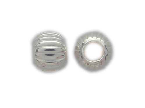 925 3mm Corrugated Ball Bead