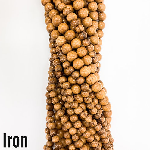 Iron Wood Beads 10mm