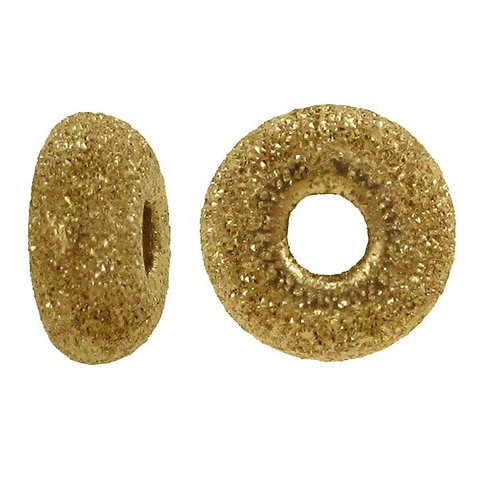 14KGF 5mm Laser Cut Roundel Bead With 1.4mm Hole