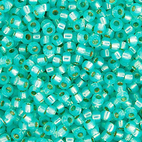 Miyuki Seed Beads  15/0 Aqua Green S/L Opal Alabaster