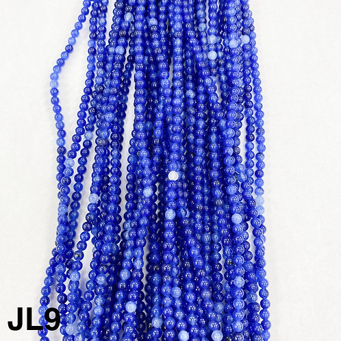 Dyed Jade Royal Bue Mix Colour 3mm