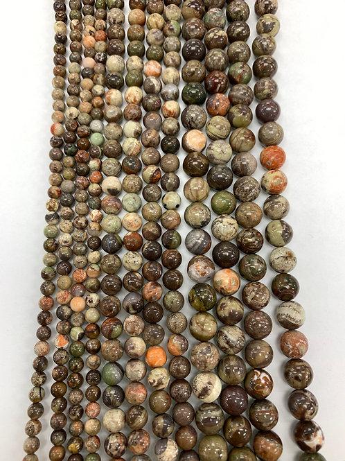 Natural Ocean Jasper Beads 4mm