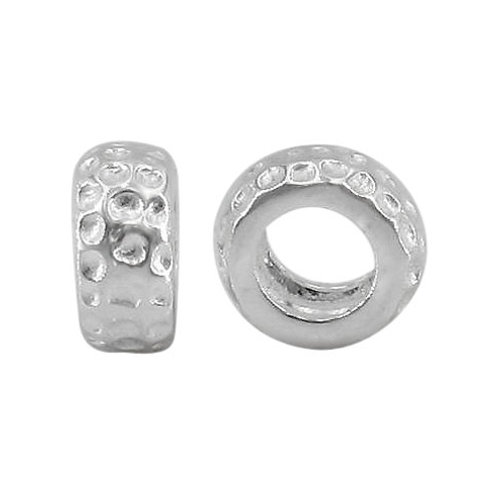 925 Roundel Shape With Design And 5mm Hole
