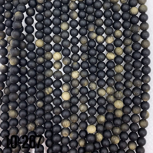 Natural Matte Golden Obsidian 6mm